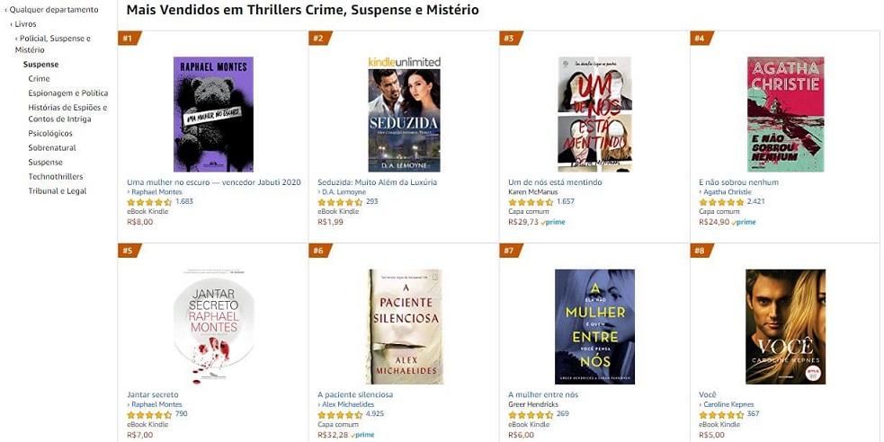 exemplo amazon mais vendidos policial misterio suspense