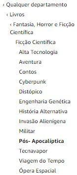 Palavras-chave da Amazon - um exemplo de categorias da barra lateral para o gênero romance