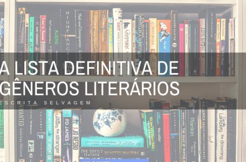 lista de gêneros literários